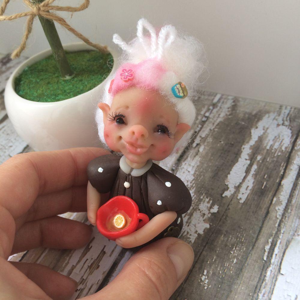 кукла фея, кукла льф, оберег, фея кофейная