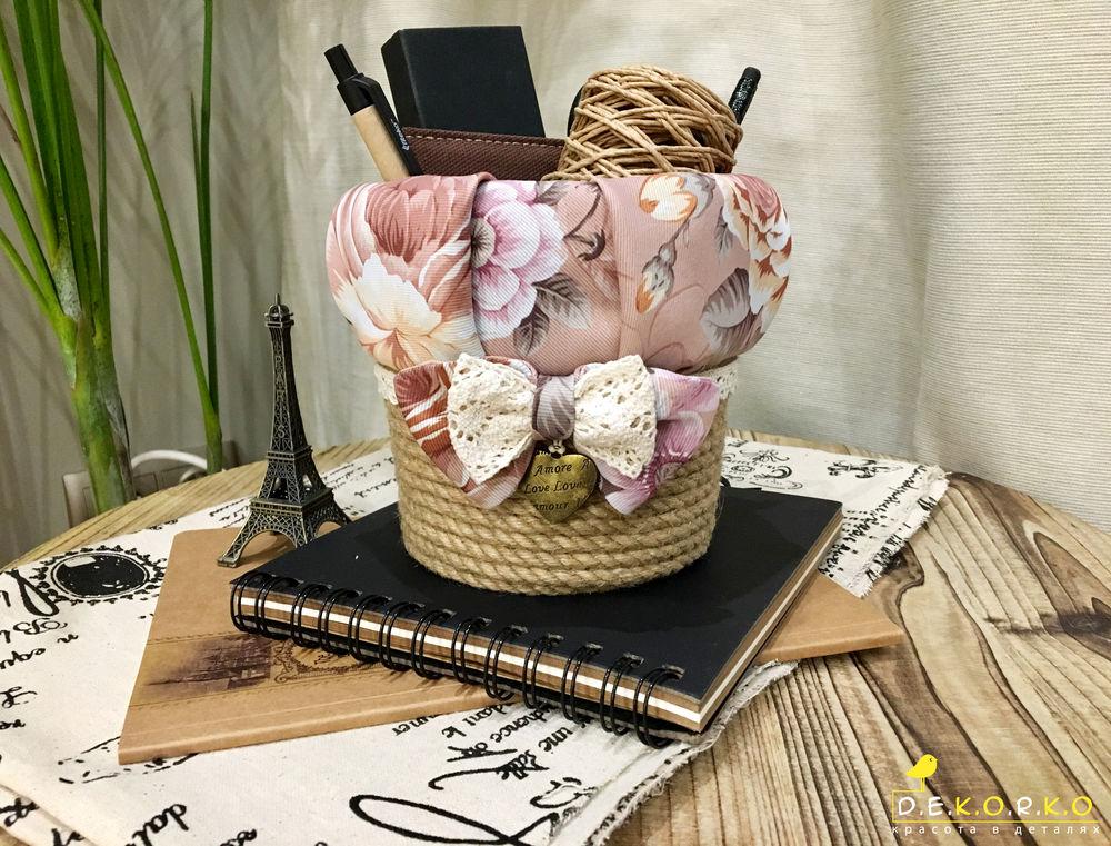 корзинка, декор интерьера, розы, ручная работа, подарок женщине, элегантный, французский стиль