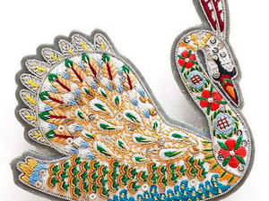 Fabulous Brooches with Ethnic Motifs by Tilia Embroidery Studio. Livemaster - handmade