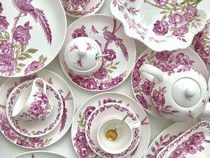 Сервиз столово - чайный Розовый шинуазри. Ярмарка Мастеров - ручная работа, handmade.