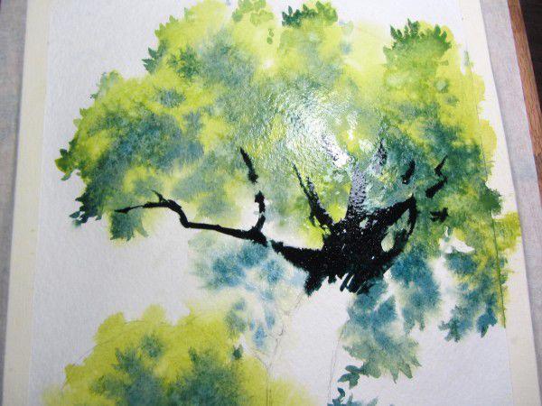 Как нарисовать дерево акварелью, фото № 12