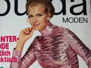 Burda moden 11/1969 Бурда Моден. Ярмарка Мастеров - ручная работа, handmade.