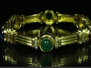 Роскошная классика!!! Золотой браслет из мульти камней!! | Ярмарка Мастеров - ручная работа, handmade