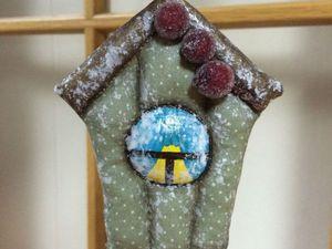 Шьем елочное украшение — новогодний домик для птички. Ярмарка Мастеров - ручная работа, handmade.