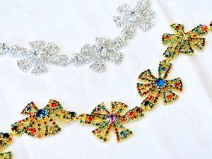 Оригинальная и очень красивая тесьма Dolce&amp&#x3B;Gabbana золото серебро кристаллы Италия. Ярмарка Мастеров - ручная работа, handmade.