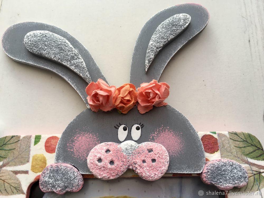 пасхальный зайчик, пасхальный заяц, декор, shalena handmade