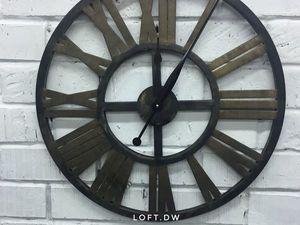 Большие настенные часы в стиле лофт. Ярмарка Мастеров - ручная работа, handmade.