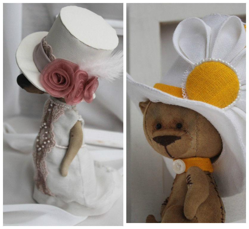 авторские куклы, мишки