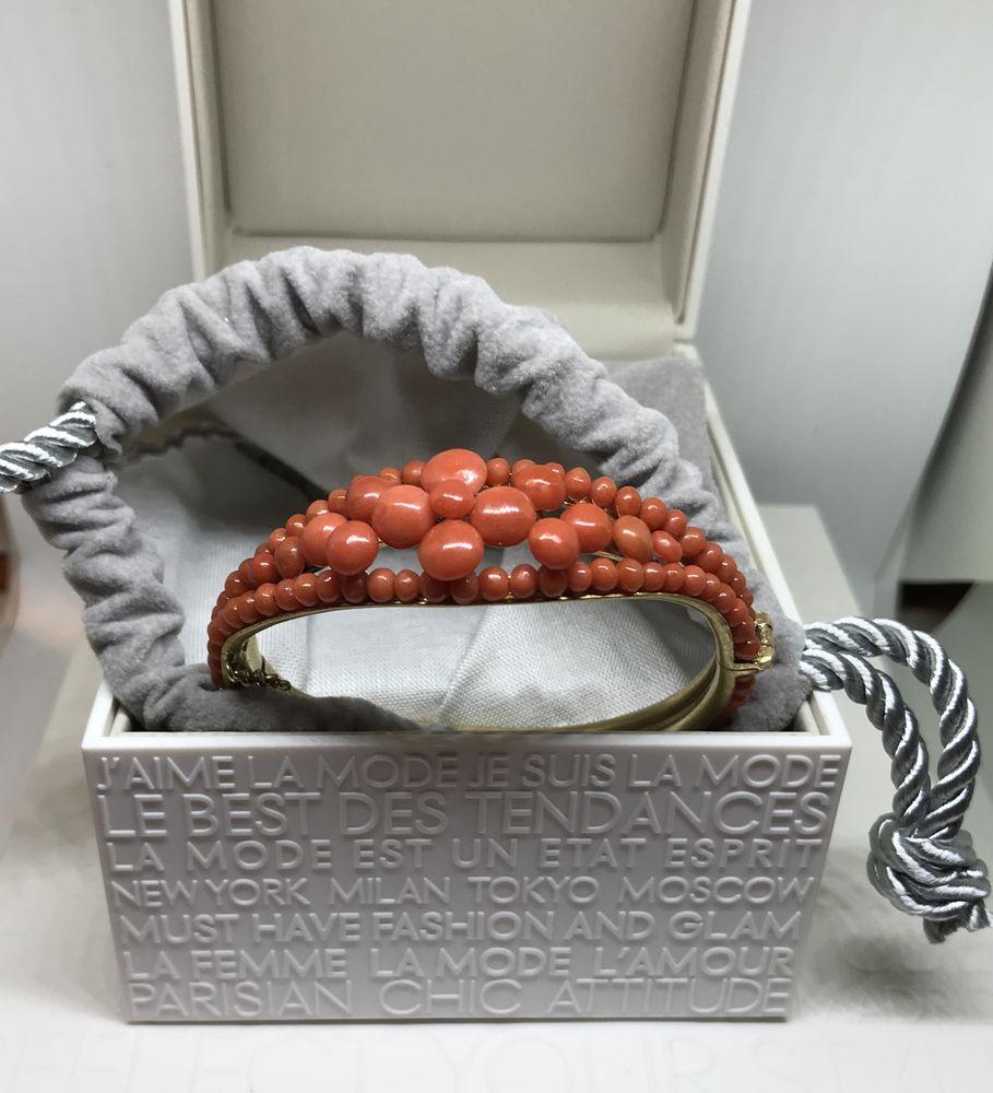винтажные украшения, коралловый браслет