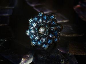 "Аукцион на кольцо-цветок ""Свет Полярной звезды"". Ярмарка Мастеров - ручная работа, handmade."