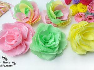 Видео мастер-класс: делаем цветы из салфеток для фона к фото и видео. Ярмарка Мастеров - ручная работа, handmade.
