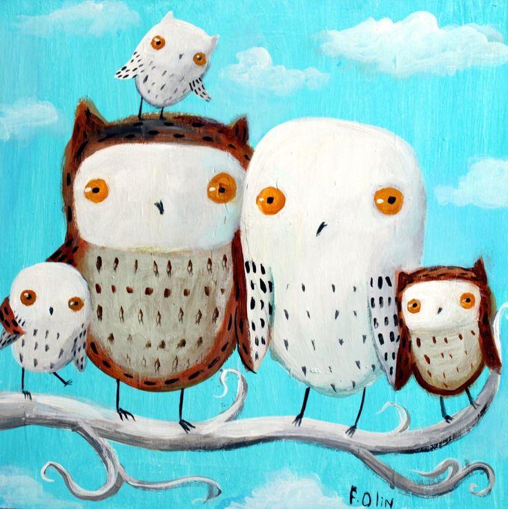 'Owl 10' by flea-sha