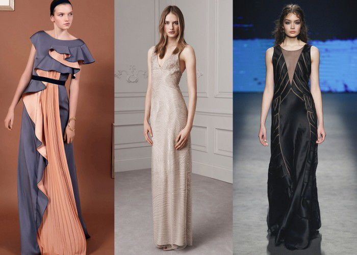 Модная длина платья 2017 года