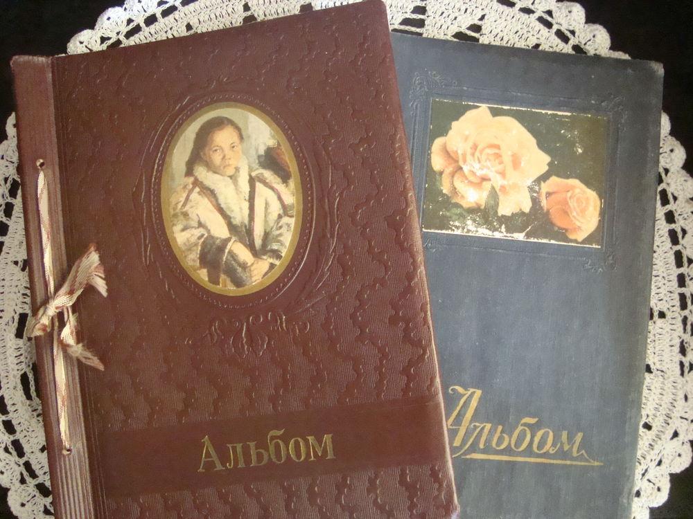 антикварный фотоальбом, большой фотоальбом, альбом из картона