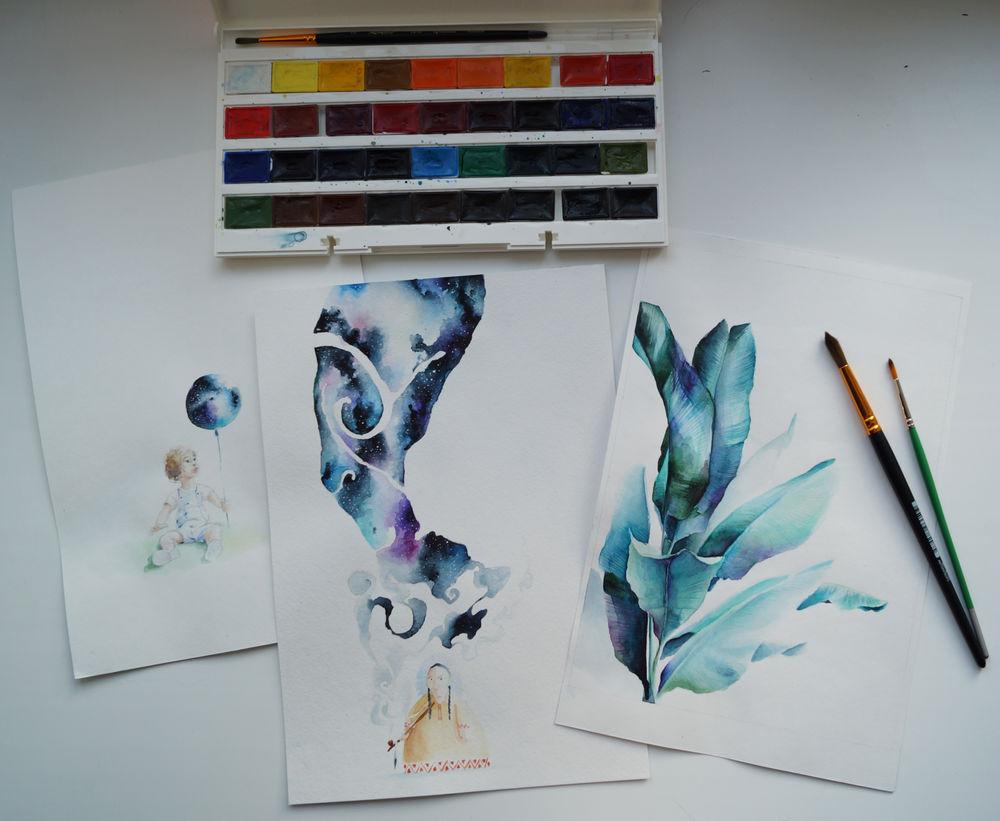 акварельная живопись, импровизация