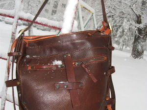 Кожаная сумка для тех, кто в поиске или кто уже нашел.... Ярмарка Мастеров - ручная работа, handmade.
