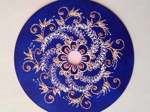 Снежинка-мандала из диска | Ярмарка Мастеров - ручная работа, handmade