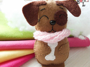 Sewing a Sweet Felt Dog for a Christmas Tree. Livemaster - handmade