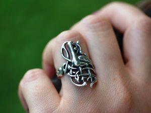 Скидка! Кольцо Кельтская птица, серебро 925 пробы с чернением. Ярмарка Мастеров - ручная работа, handmade.