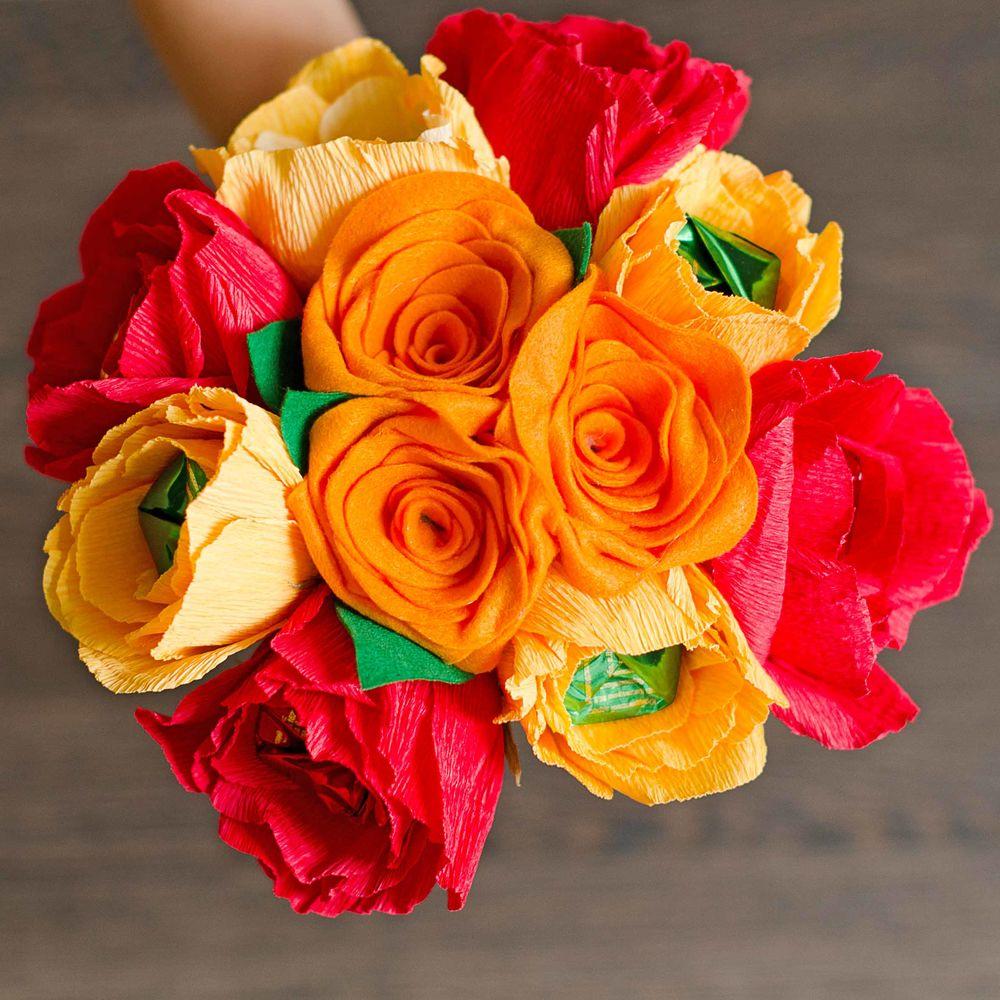 цветы своими руками, букет в подарок, букет учителю