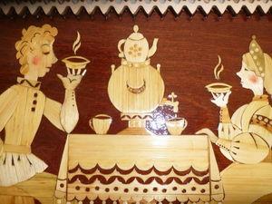 Панно инкрустированное соломкой. Ярмарка Мастеров - ручная работа, handmade.