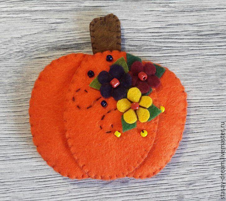 Sewing a Pumpkin Brooch, фото № 8
