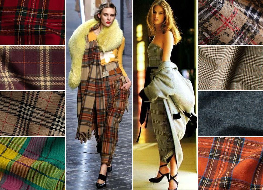 ткань шотландка, ткань клетка, принт клетка, осень-зима, шерсть, теплые ткани, ткани из италии