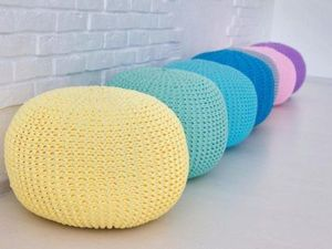 Knitted Ottomans in Every Home!. Livemaster - handmade