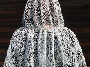 Новинка Шаль, платок для храма - Утренняя дымка | Ярмарка Мастеров - ручная работа, handmade