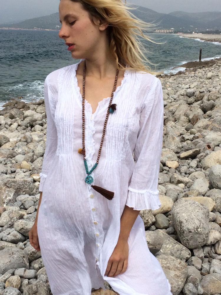 Белое бохо, или Шикарная одежда для королевы летнего пляжа, фото № 117
