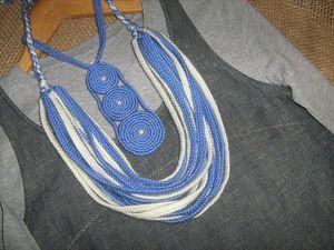 Еще одно новое вязаное колье. Ярмарка Мастеров - ручная работа, handmade.