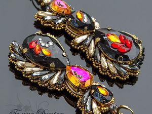 How to Create Original Smouldering Spark Earrings. Livemaster - handmade