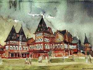 World Architecture in Watercolours by Polish Artist Maya Vronskaya. Livemaster - handmade