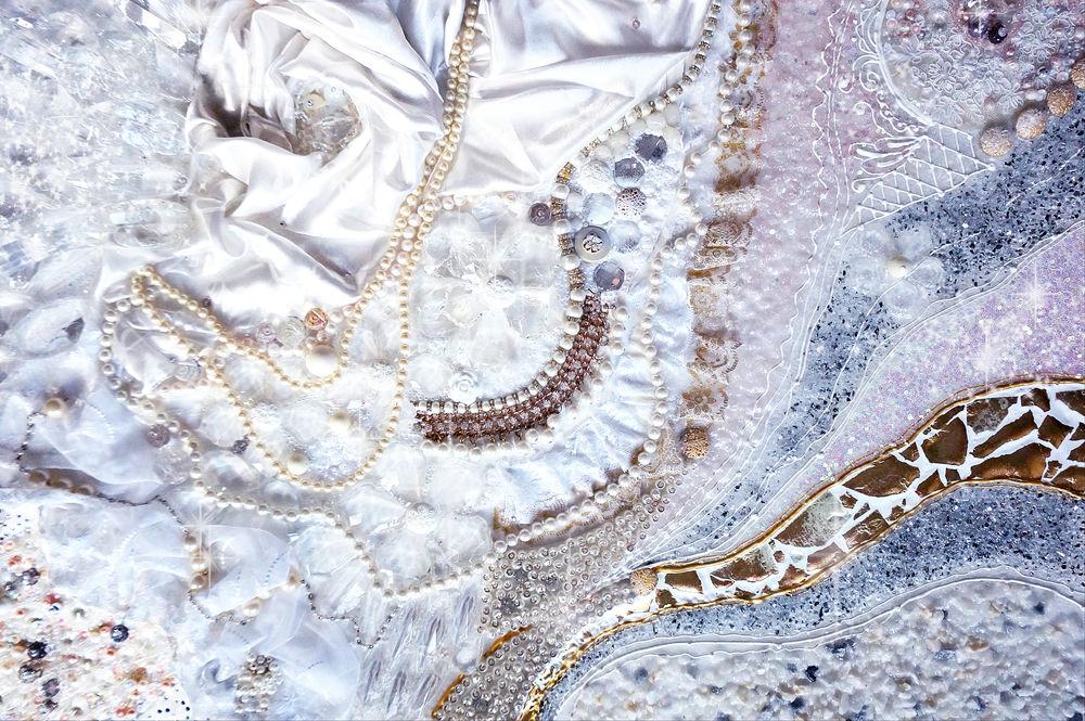 снежная королева, картина из жемчуга, купить картину москва