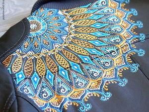 Расписываем контурами кожаную куртку, или Морозные узоры не только на окне. Ярмарка Мастеров - ручная работа, handmade.