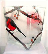 витражная роспись, витражные краски, ваза, витражные контуры