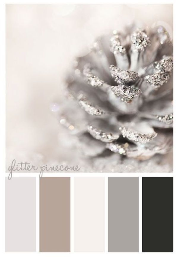 Цвета серебристый и серый