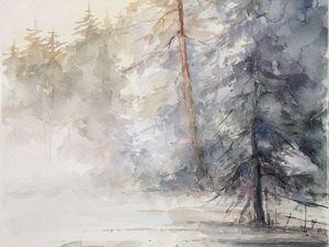 Скидки на зимние пейзажи к Новому году!. Ярмарка Мастеров - ручная работа, handmade.