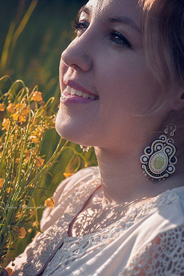 сутажные серьги, крупные украшения, купить браслет, красивые украшения