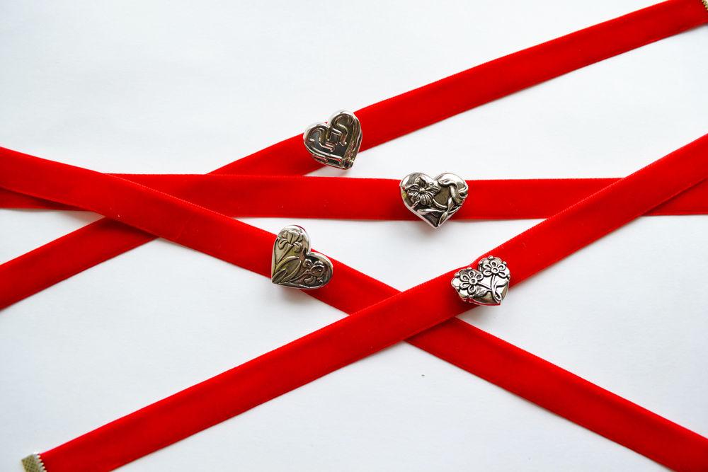 подарок, чокер, красный, день всех влюбленных