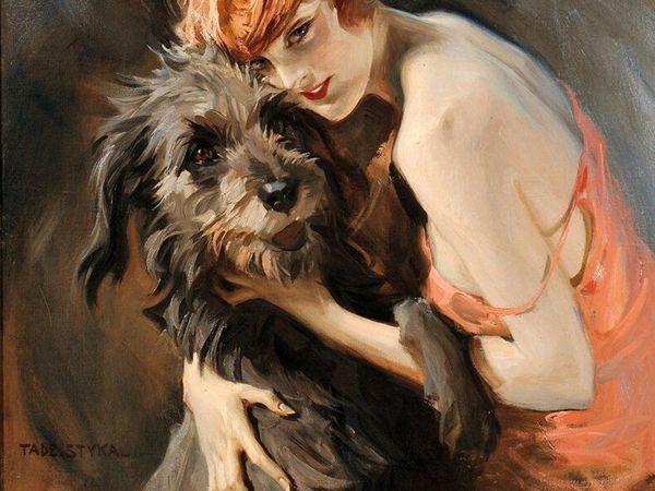 Дама с собачкой: подборка из 70 живописных полотен | Ярмарка Мастеров - ручная работа, handmade