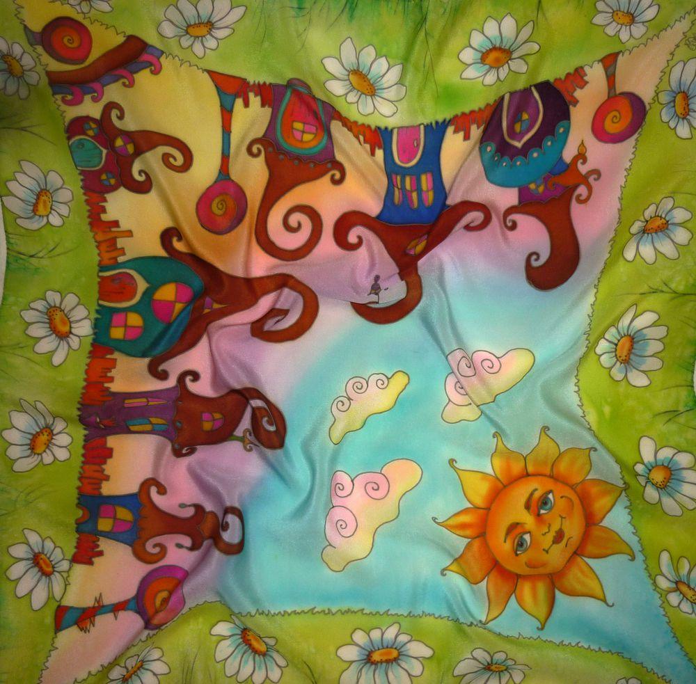 батик, шёлковый платок