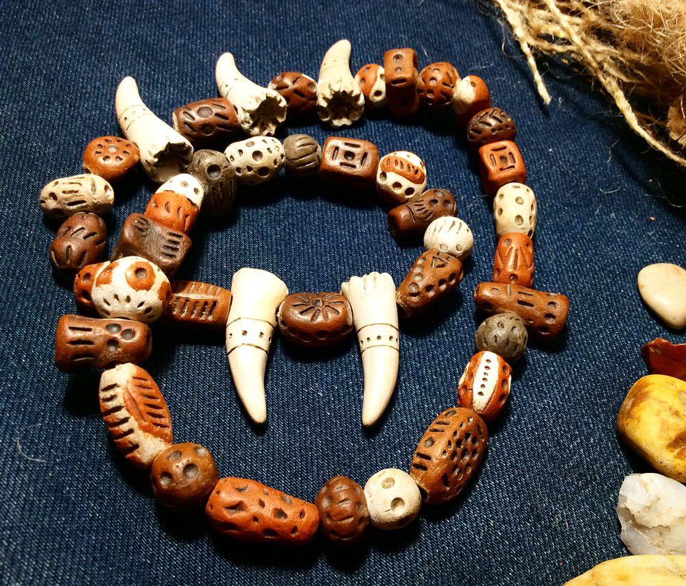 браслет, бусина, подарок, керамист, этно, новый