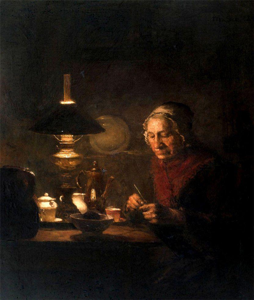 Когда есть чем заняться — стареть некогда: душевные картины о бабушках-рукодельницах, фото № 16
