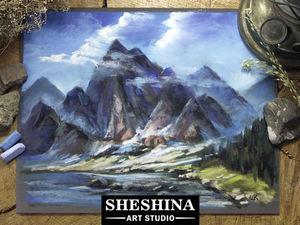 Видеоурок: рисуем горы в облаках сухой пастелью. Ярмарка Мастеров - ручная работа, handmade.