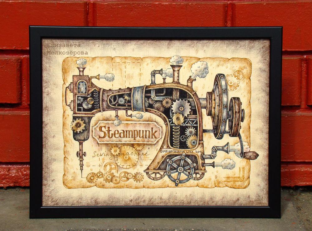 печатная машинка печать, писателю писатель поэт, модельер одежды ателье, картина графика рисунок, механизмы трубы, подарок подруге жене, мужской брутальный, ретро старинный, картина в подарок, терракотовый охра