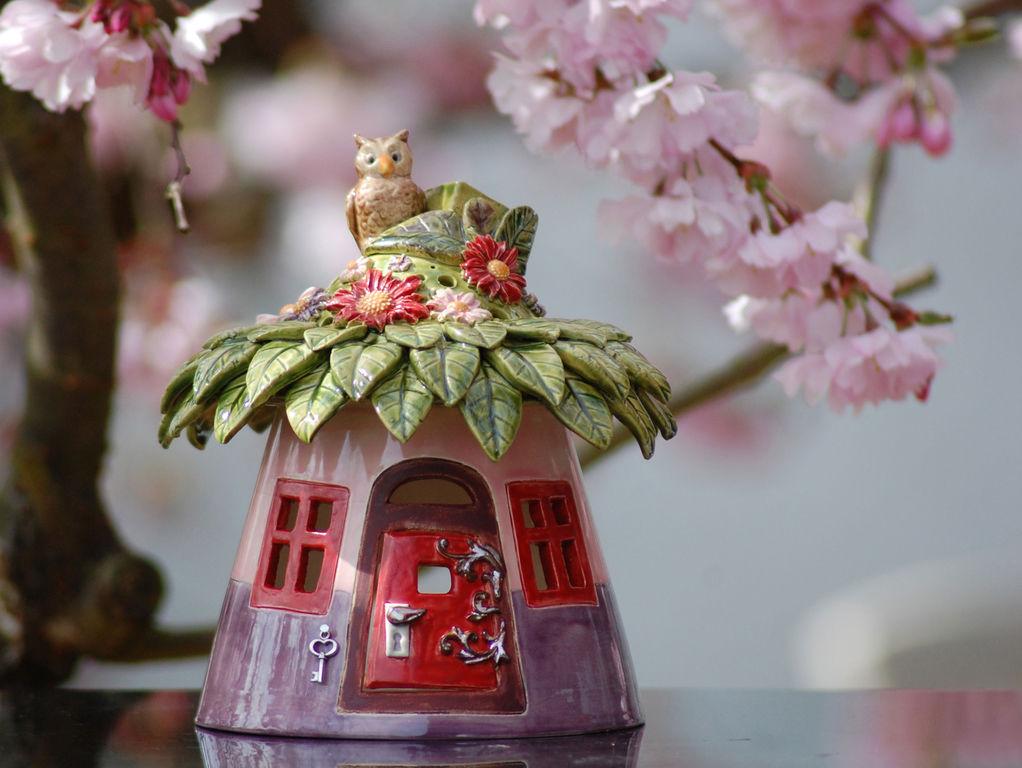 Домики для фей: волшебные керамические подсвечники Antje Rosemann, фото № 17