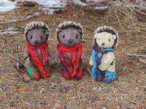 Ёжики – братики в валенках ищут дом | Ярмарка Мастеров - ручная работа, handmade