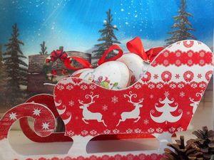 Большие новогодние санки. Ярмарка Мастеров - ручная работа, handmade.