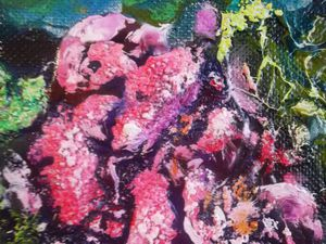 Мастер-класс по интуитивной живописи: пишем маслом картину «Абстракция с пионами» | Ярмарка Мастеров - ручная работа, handmade